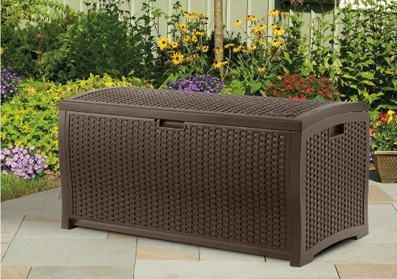 Suncast Wicker Resin Deck Box