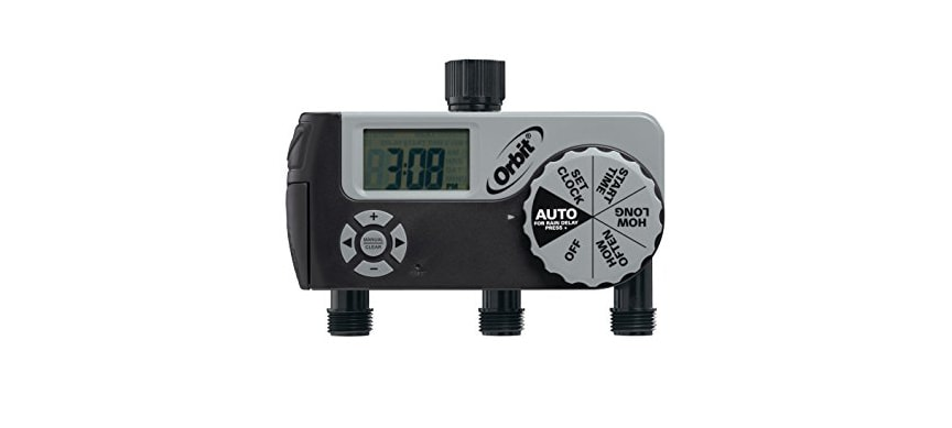 Orbit 56233D 3 Outlets Digital Watering Timer With 1 Manual Port And 2 Digital Ports