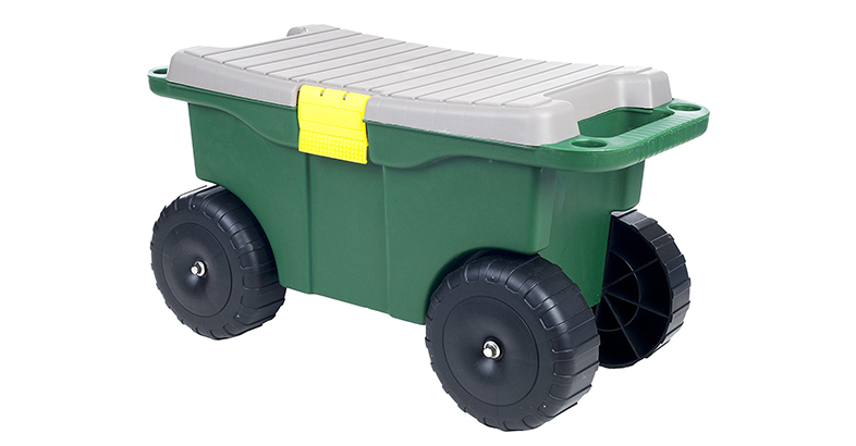 Pure Garden 75 MJ2011 20 Plastic Garden Storage Cart & Scooter