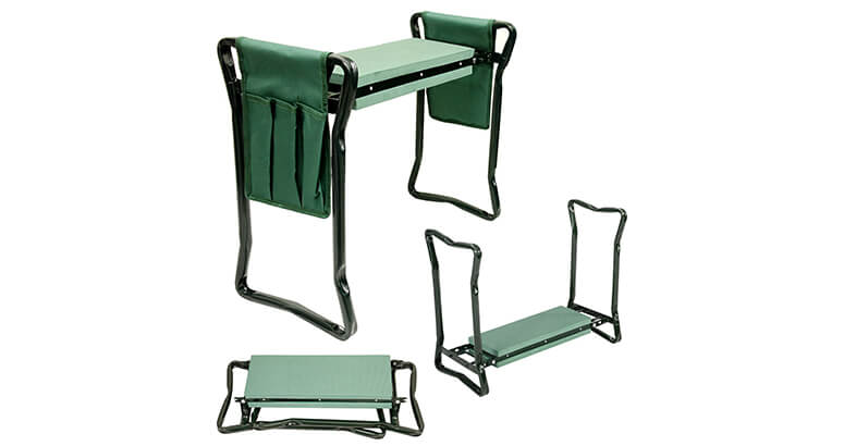 U.S. Garden Supply Foldable Garden Kneeler And Seat With 2 Tool Pouches
